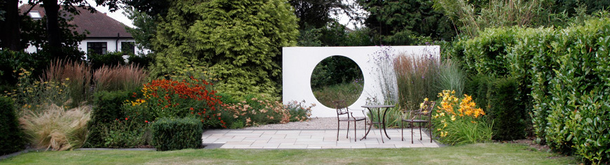 greencube garden design moongate in brentwood essex