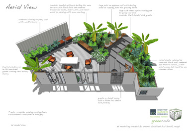 3D garden design perspective in kings hill by greencube