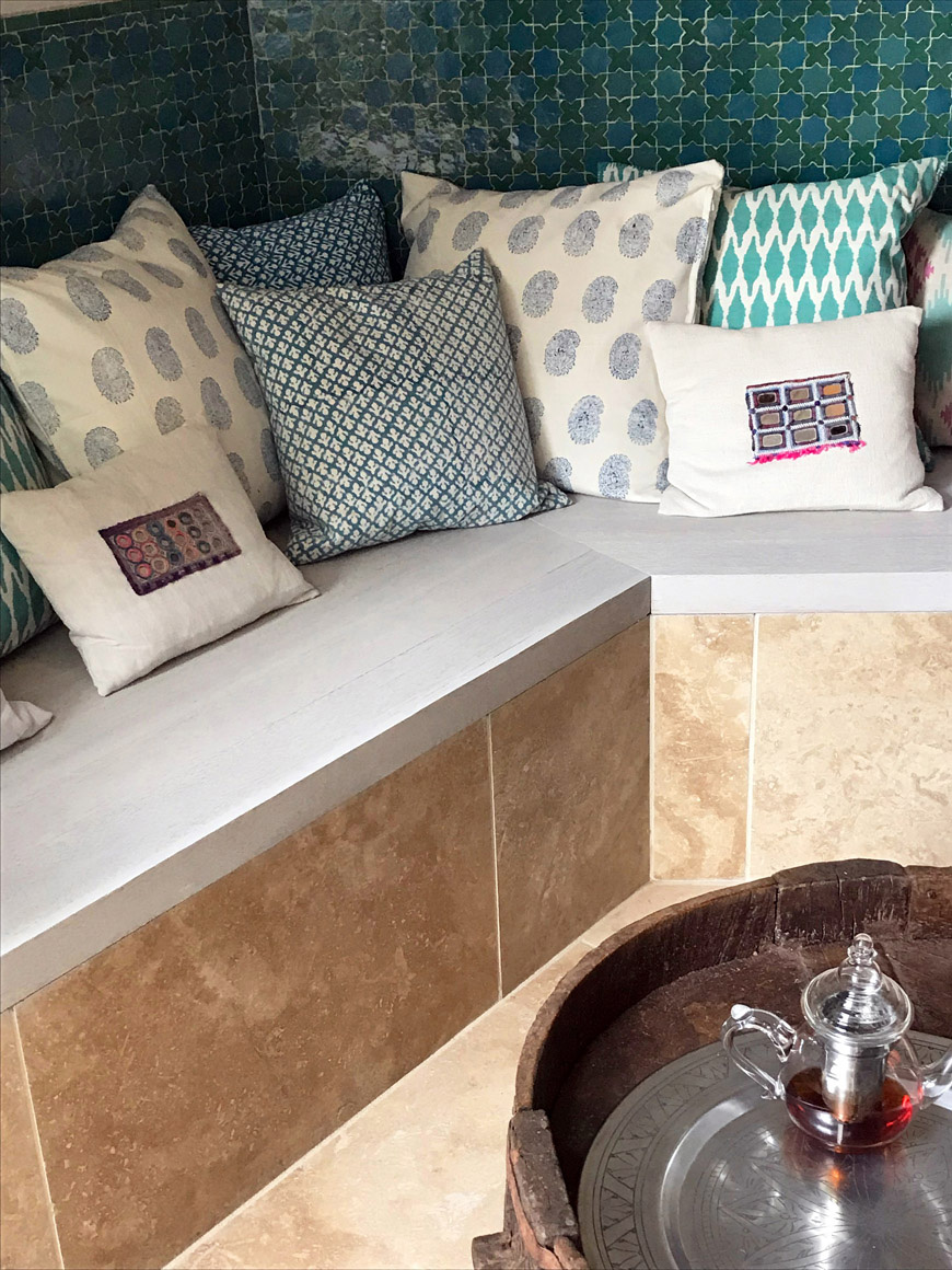 Built in Seating - travertine