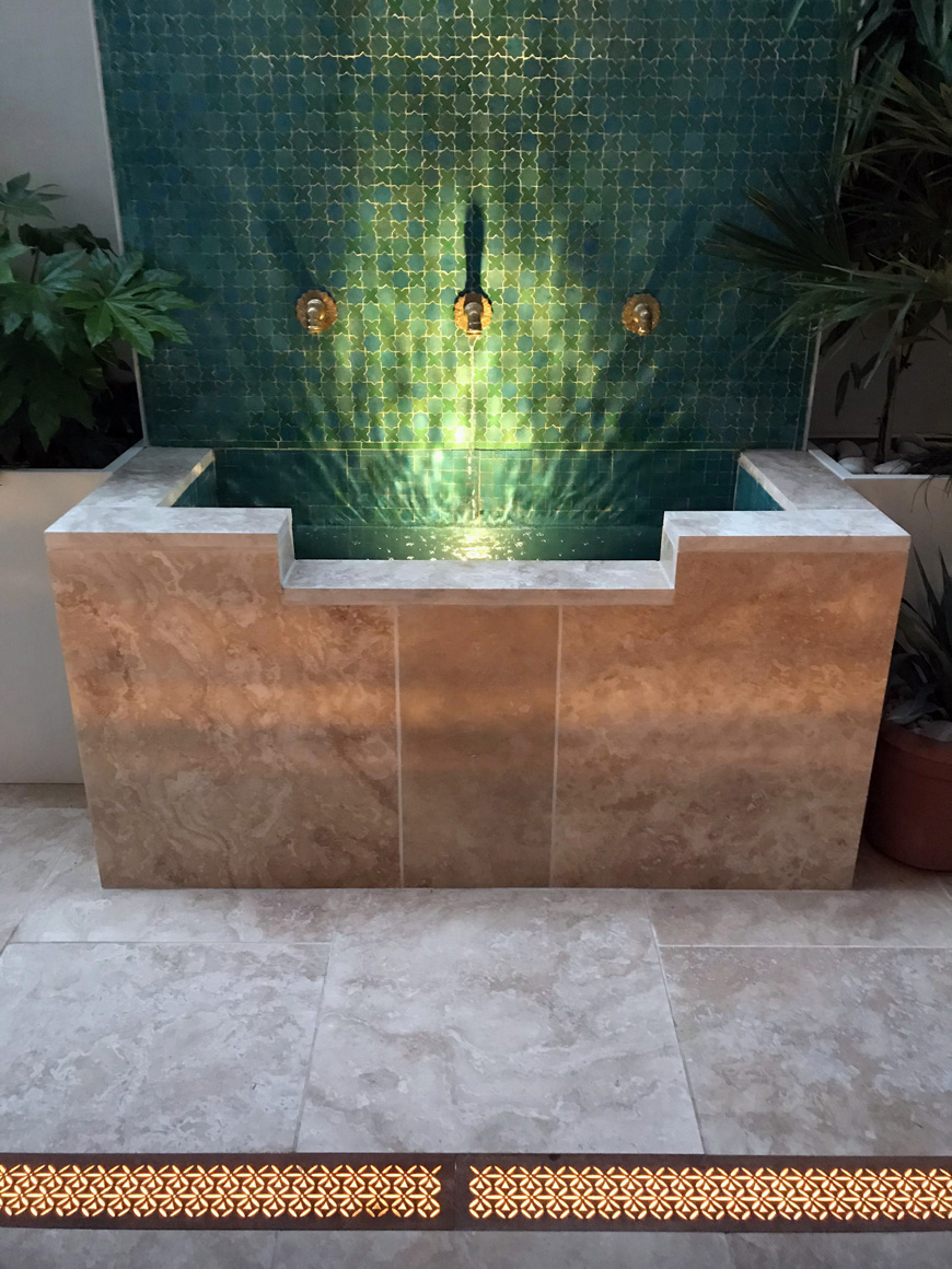 Moroccan Water feature