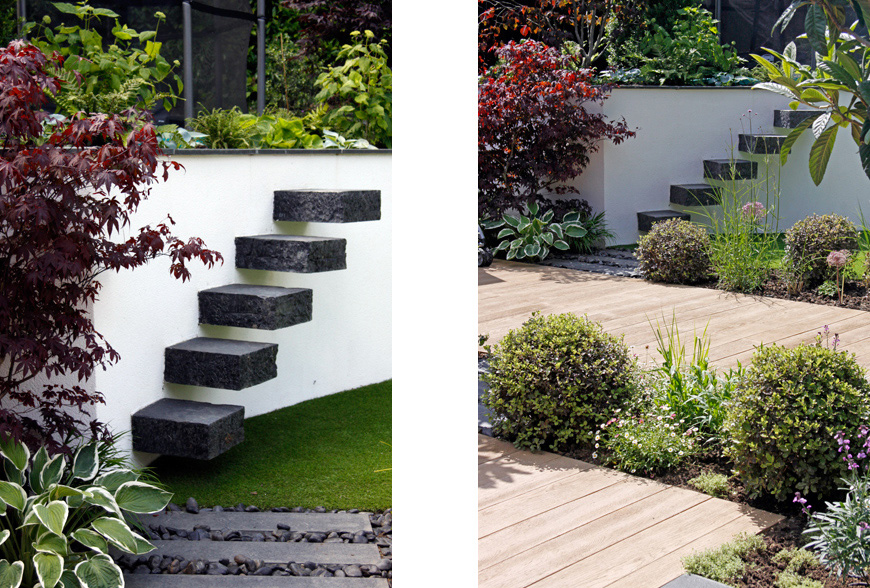 eco decking creates an outdoor terrace in this essex garden by greencube garden design