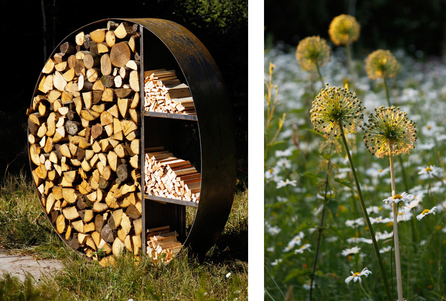 greencube garden design created this innovative sculptural log store used in platt, kent
