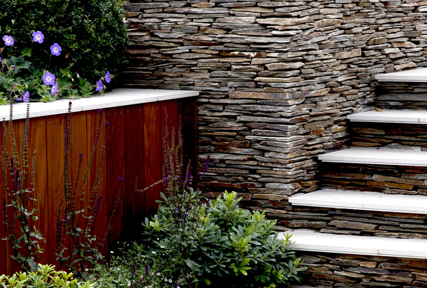 design detail in garden in Sevenoaks