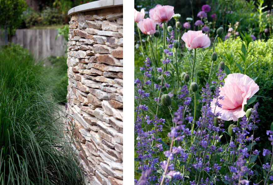 pink and purple planting palette in greencube's platt garden design