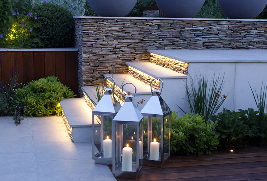 outdoor candles enhance the evning experience